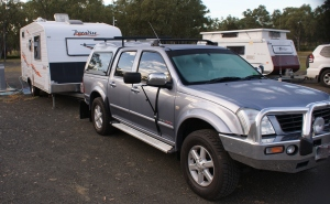 Our Holden Rodeo and Paradise Haven Caravan
