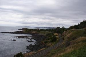 The Rail Line Hugs the Coast