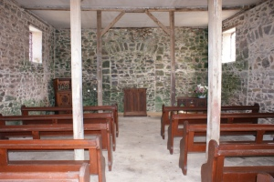 The Interior of the Chapel - School House Upstairs
