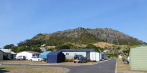 A View of the Nut from the Caravan Park at Stanley