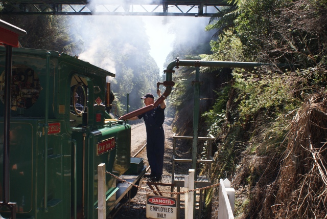 Taking on Water at Rinadeena Siding