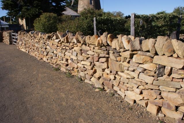 Dry Stone Walls at Callington Mill Rebuilt by a Woman