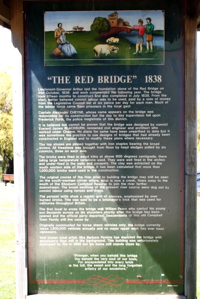 Red Bridge Information Board