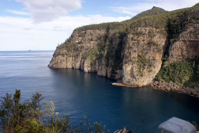The Imposing Cliffs above Waterfall Bay