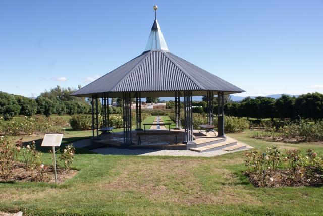 Rotunda in Rose Garden at Woolmers