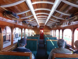 The Interior of the Carriage on the Abt Railway