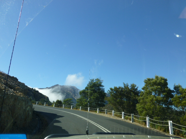 Travelling up the Range from Queenstown