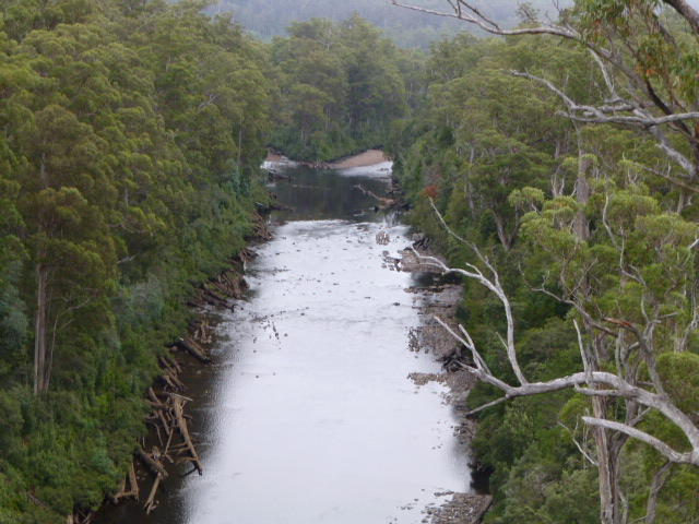 View of the Huon River from the Cantilever