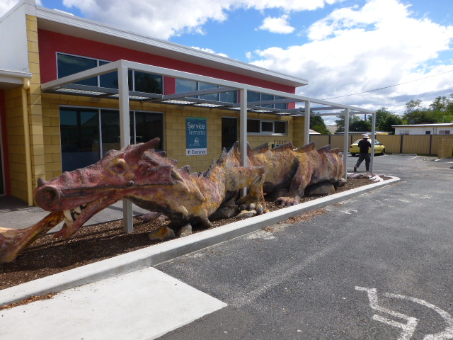 The Dragon at the Visitor Centre St Helens
