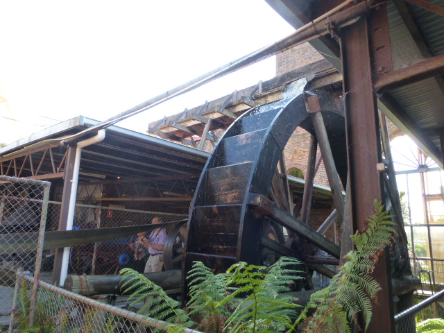 The Old Water Wheel which was used to drive the Stamper at Beaconsfield
