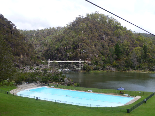 Swimming Pool and Lake at Cataract Gorge