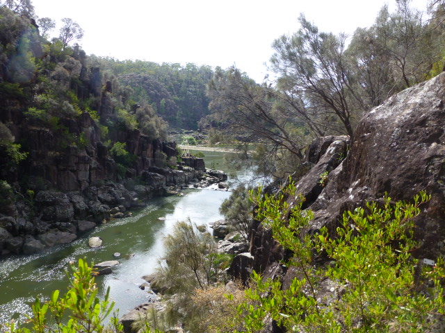South Esk River just before the Basin