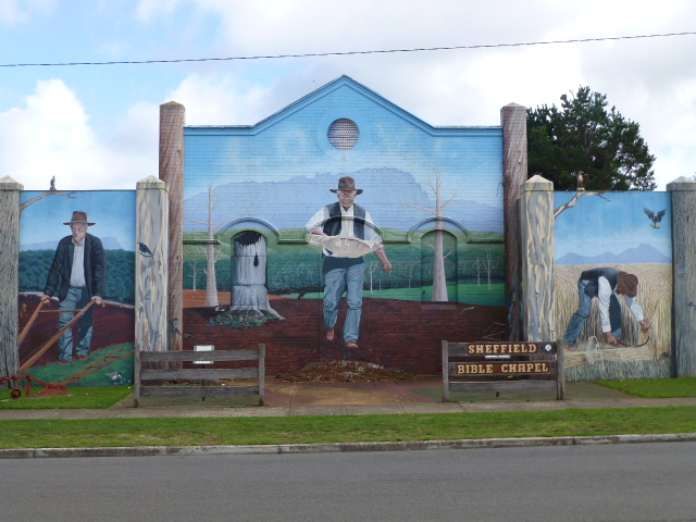 One of the Many Murals in Sheffield Tasmania