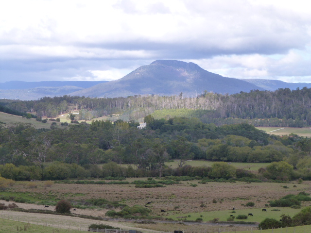 View of the Great Western Tiers at Deloraine