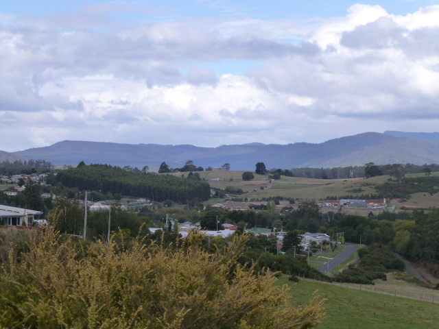 Deloraine a view from the north west of the town