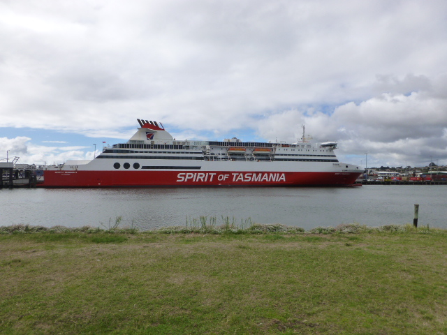 The Spirit of Tasmania I at the dock in Devonport