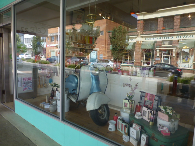 An old Lambretta Scooter on Display in Devonport