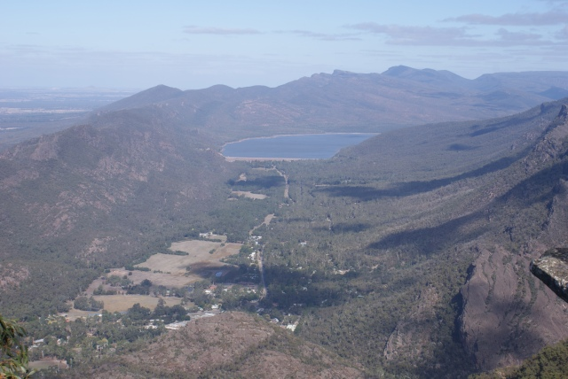 Lake Bellfield and part of the Grampians