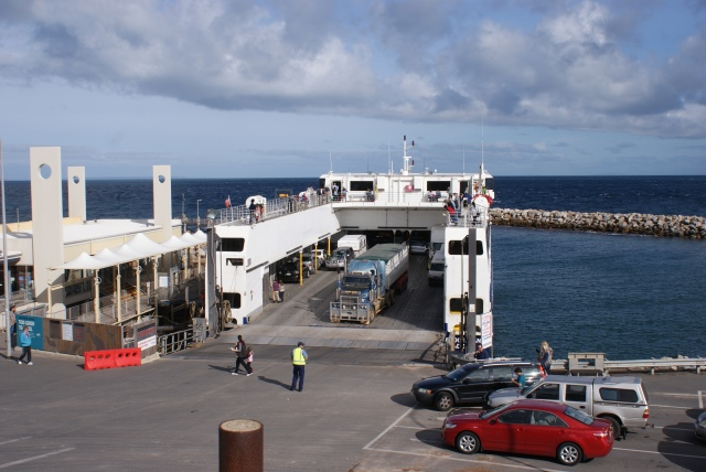 Truck Reversing on to the Sealink Ferry at Cape Jervis