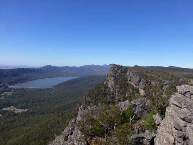 Lake Bellfield from half way up to the Pinnacle
