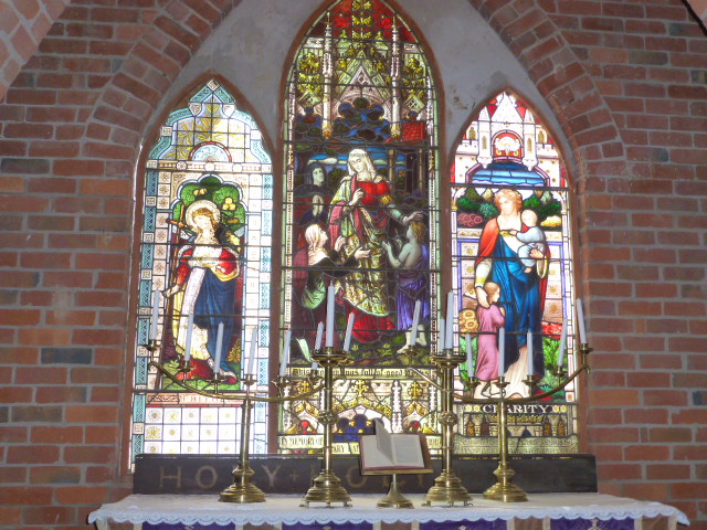 Stained Glass Window in Church at Pioneer Settlement at Swan Hill