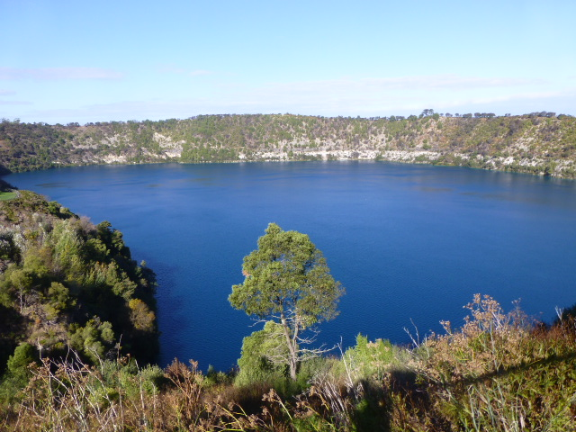 A View of the Blue Lake at Mt Gambier