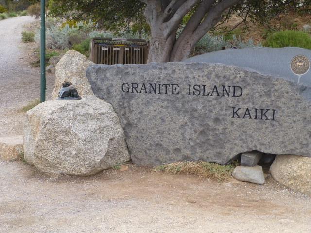 Name Stone on Granite Island
