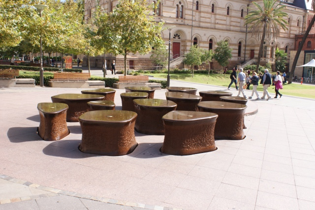 Unusual Fountains in North Terrace