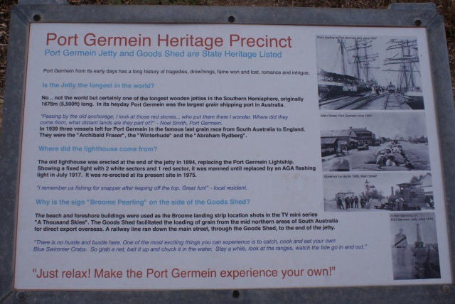 Information Board at the Jetty at Port Germein