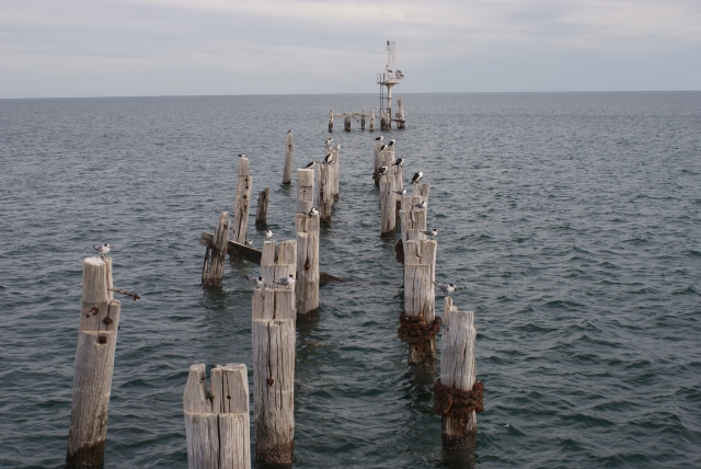 The End of the Original Jetty at Port Germein