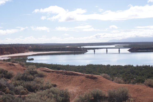 The Railway Bridge Near the Head of Spencer Gulf at Port Augusta