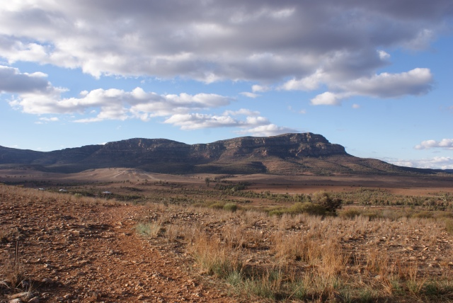 View from Olownda Range Towards Wilpena Pound