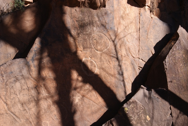 Aboriginal Etchings in Sacred Canyon