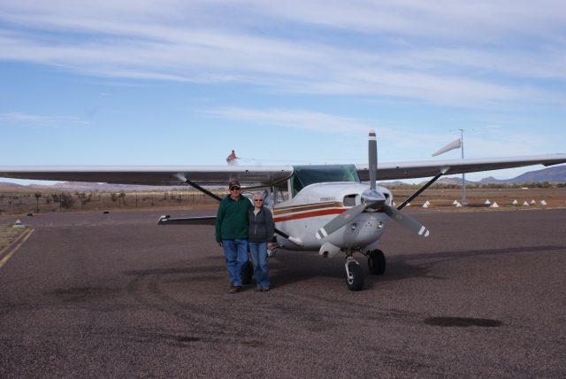 The Cessna at Hawker Airstrip