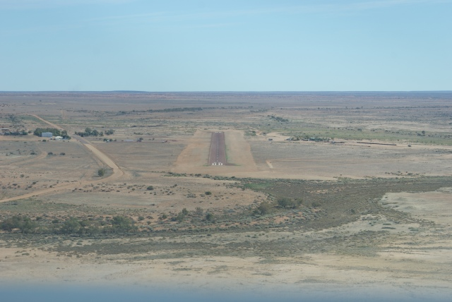 Coming in to Land at William Creek