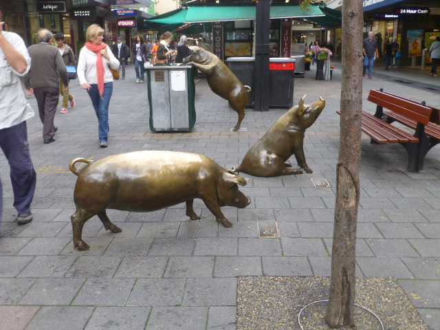The Pigs in Rundle Mall