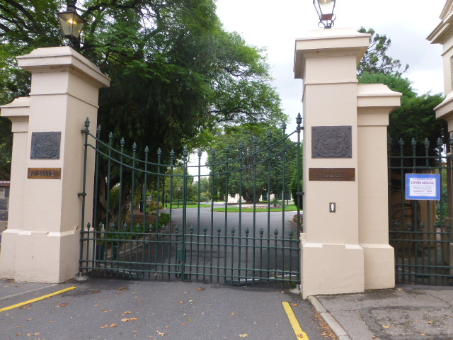 The Gates of Government House in Adelaide