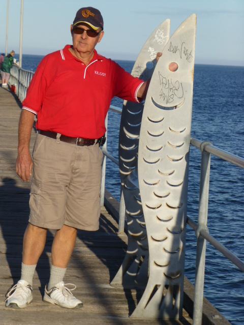 Measuring Fish at the Jetty at Marion Bay