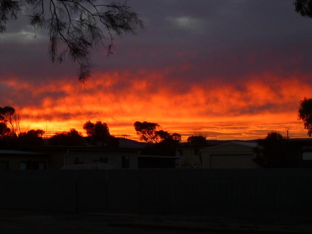 Sunrise at Port Germein