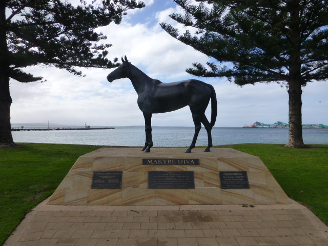 Makybe Diva Monument on the Waterfront at Port Lincoln