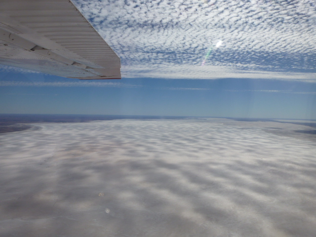 Lake Eyre from 4500 Ft.