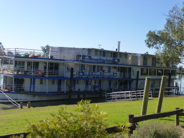 This Old Paddle Steamer is used for Backpackers Accommodation at Waikerie