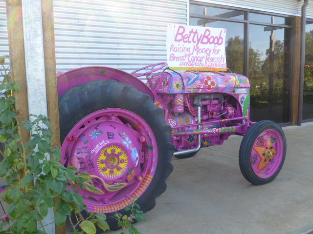 Old Tractor at Rushton Roses used to raise funds for Charity