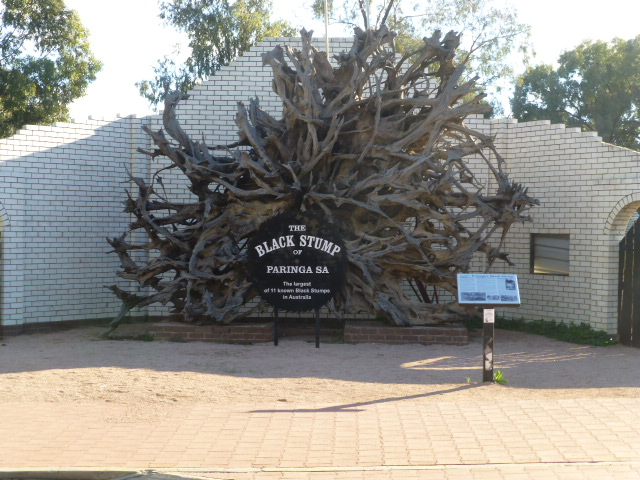 The Black Stump at Paringa