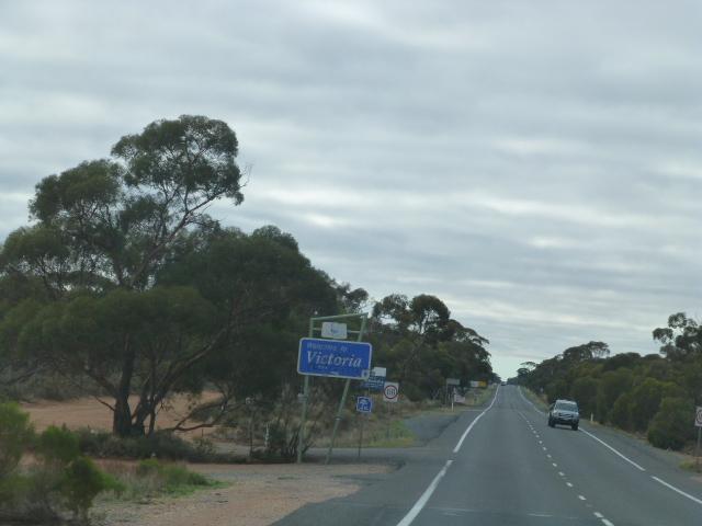 Border Sign Entering Victoria