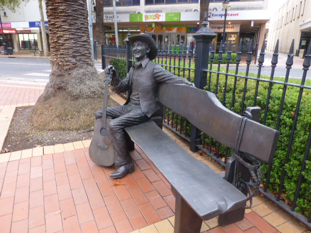 Brass Statue in the main street of Tamworth