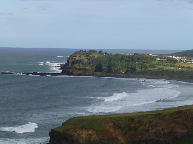View from the lookout at Ballina
