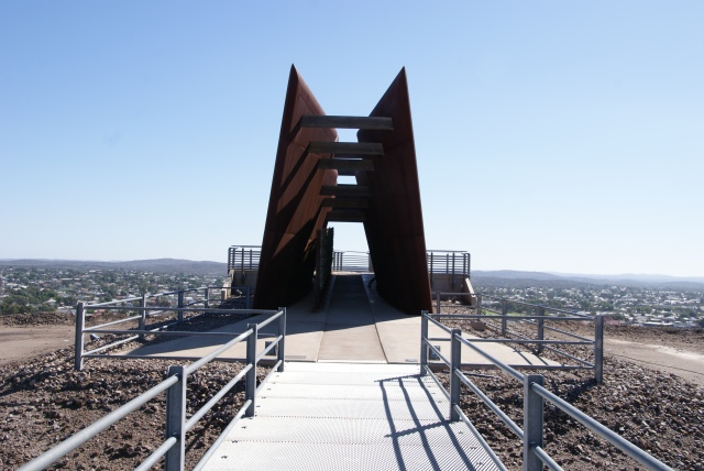 The Miners' Memorial on top of the Line of Lode at Broken Hill