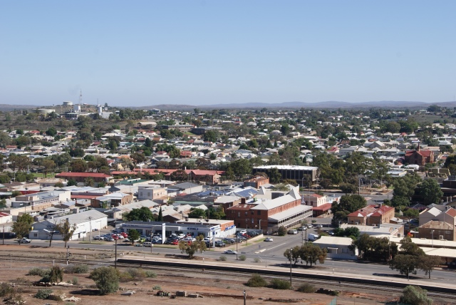 Part of the view of Broken Hill seen from the top of the Line of Lode