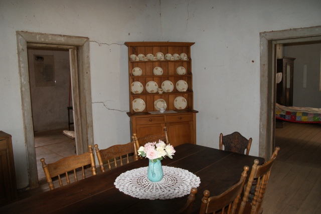 Inside the Stonehouse at Boulia